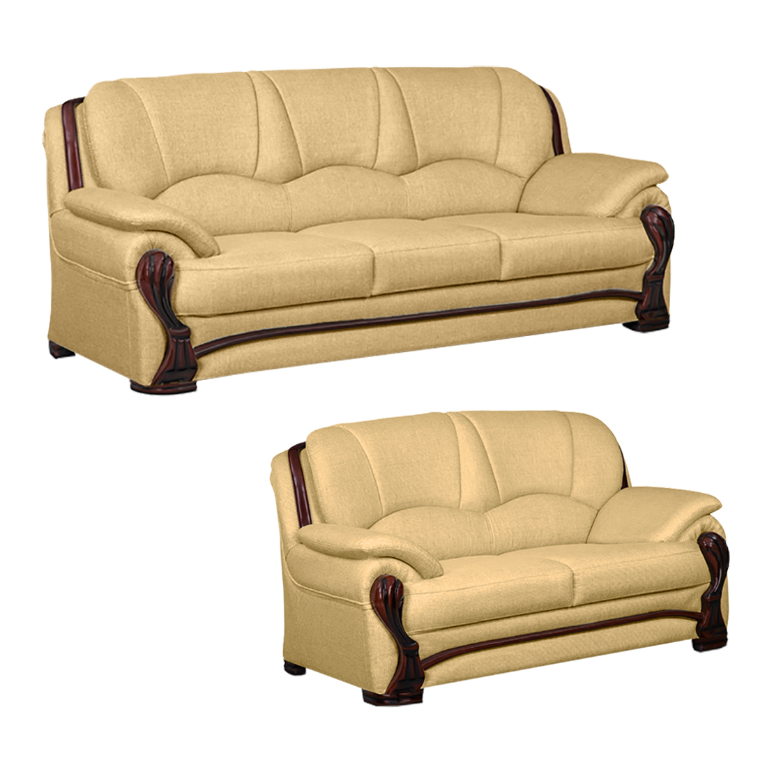 Yellow Sofa Online India Bharat Lifestyle China Gate Fabric 3 2 Gold Sofa Set