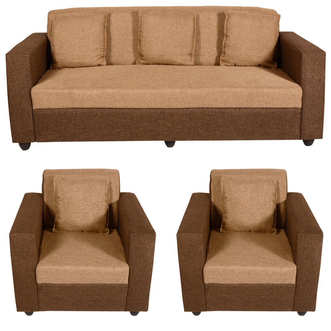 Sofa Set Online Bharat Lifestyle Lexus Fabric 3 1 1 Golden Brown Sofa Set