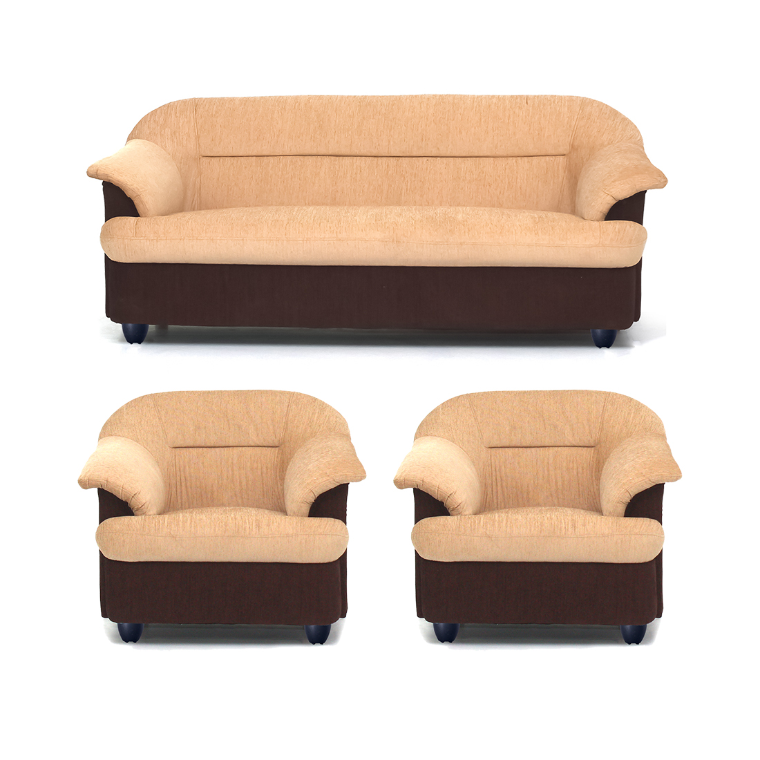Yellow Sofa Online India Bharat Lifestyle Sagittarius Fabric 3 1 1 Golden Brown Sofa Set