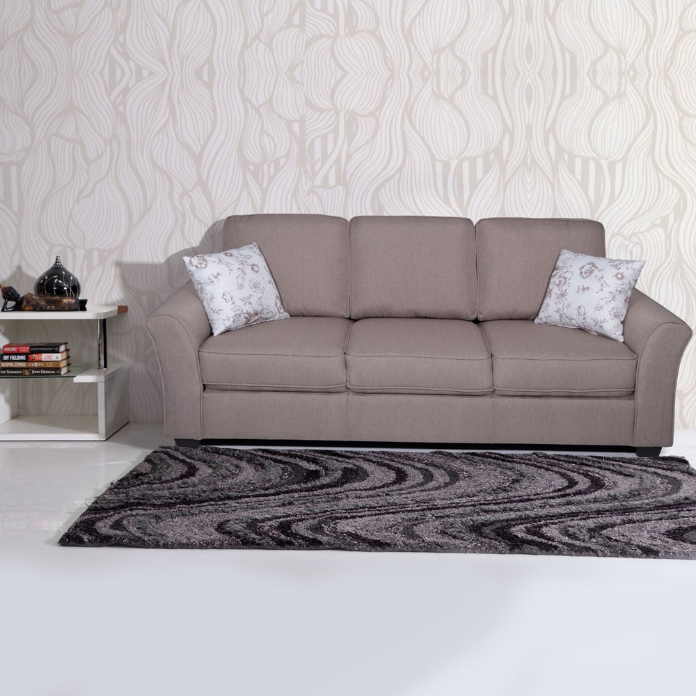 Relax Sofa Braun Andorra Fabric Sofa 3 Seater Brown