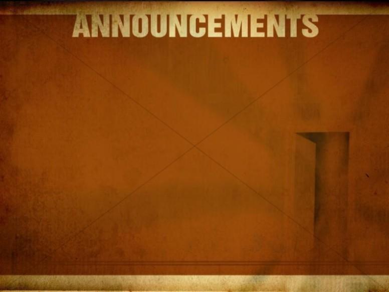 Announcements Worship Service Background Church Announcements