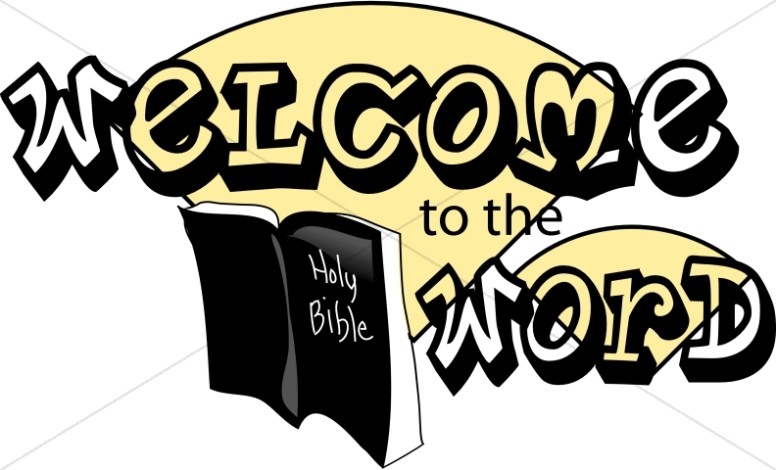 Welcome to the Word Sunday School Clipart
