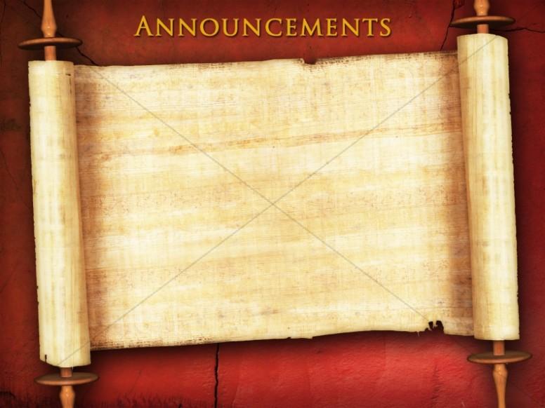 Messianic Announcement Background Slide Church Announcements