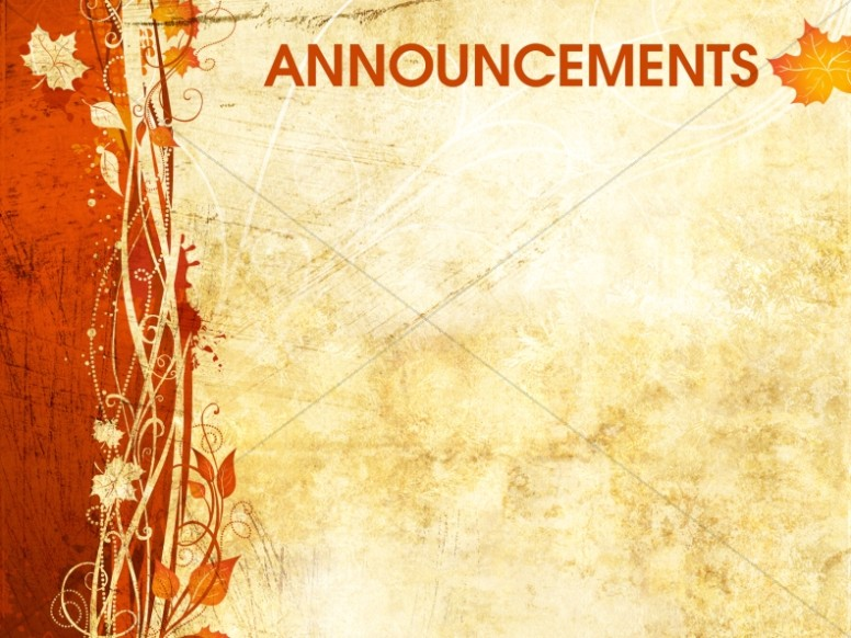 Fall Announcement Background Slide Church Announcements