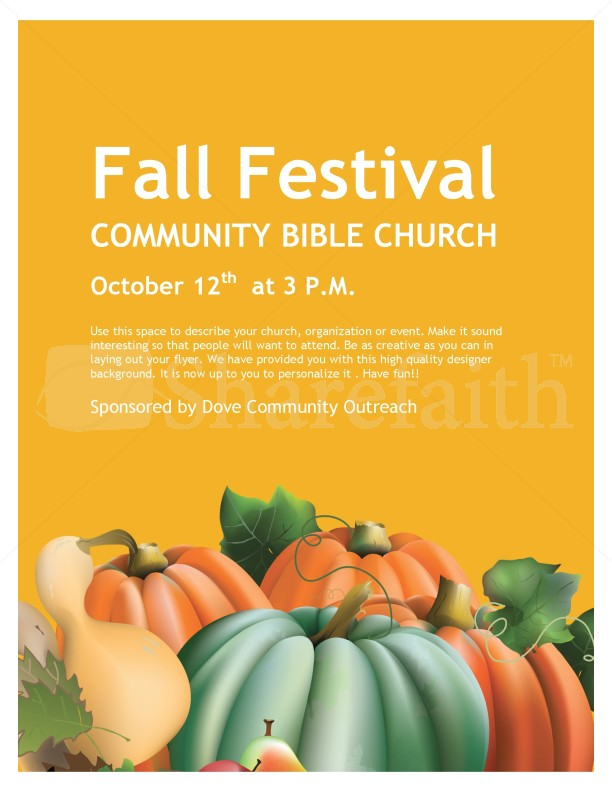Fall Festival Church Flyer Template Flyer Templates - fall festival flyer ideas