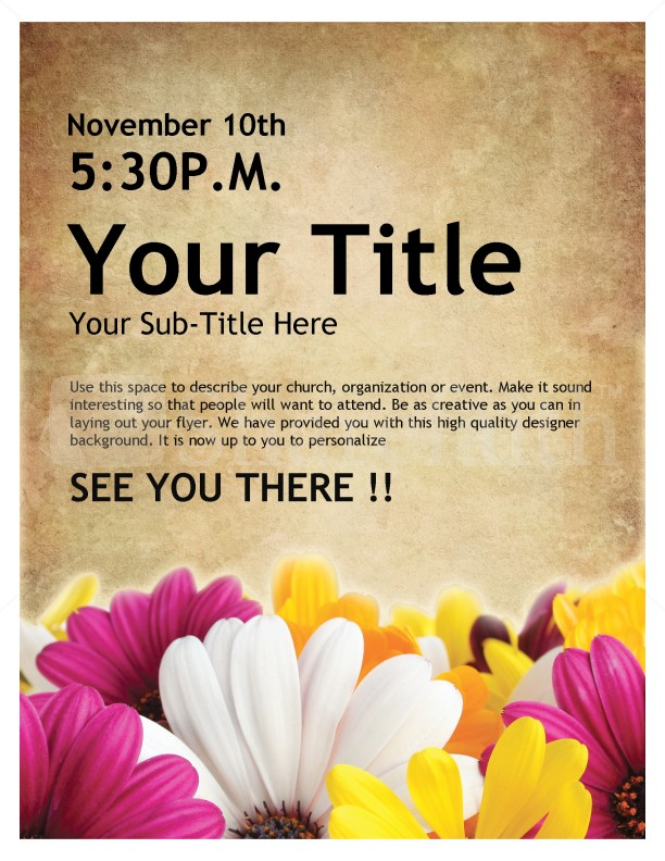 Womens Retreat Church Event Flyer Template Flyer Templates - how to write a flyer