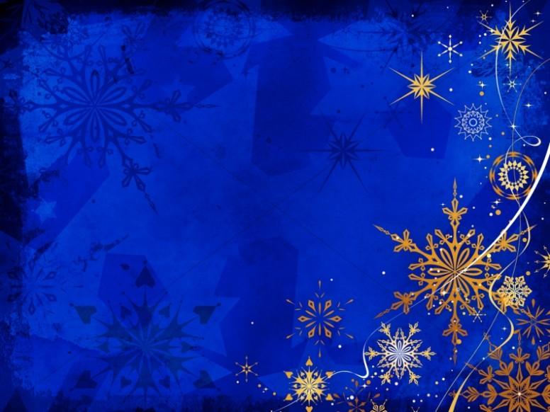 Winter Snowflake Background Slide Worship Backgrounds