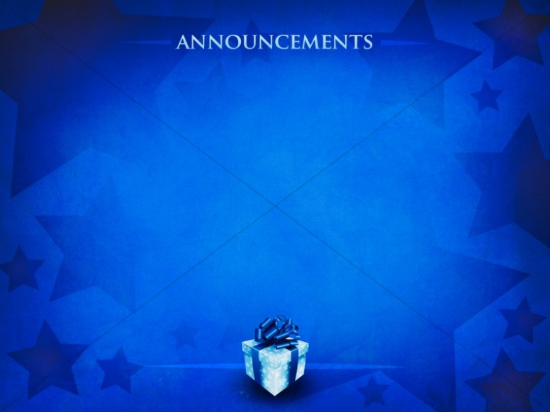 Gift of Christmas Announcement Background Church Announcements