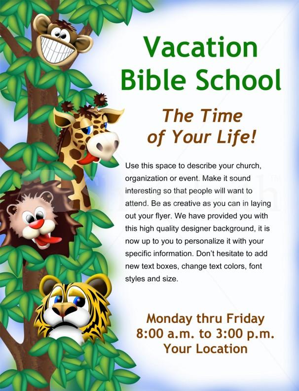 Vacation Bible School Flyer Template Flyer Templates