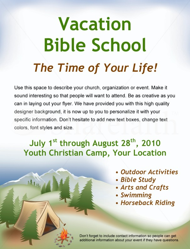 Bible Camp Flyer Template Flyer Templates - camp flyer template