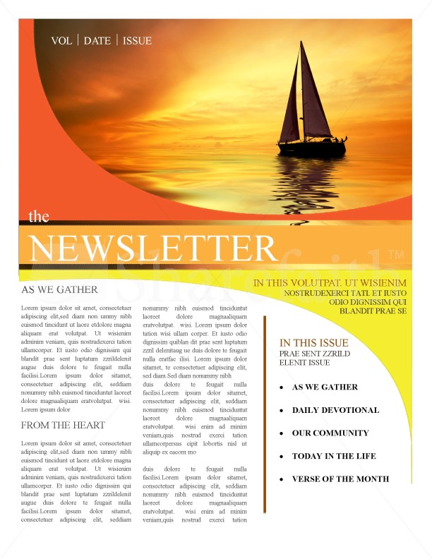 Church Newsletter Templates Template Newsletter Templates