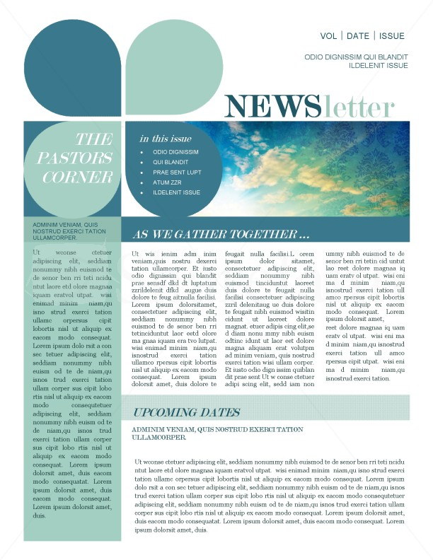 Mission Update Newsletter Template Template Newsletter Templates - news letter formats