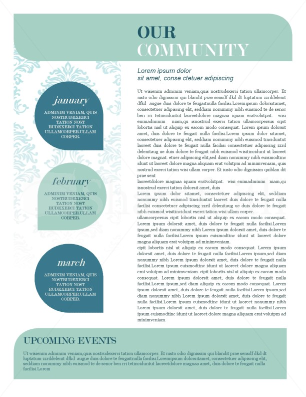 Mission Update Newsletter Template Template Newsletter Templates - sample of school newsletters