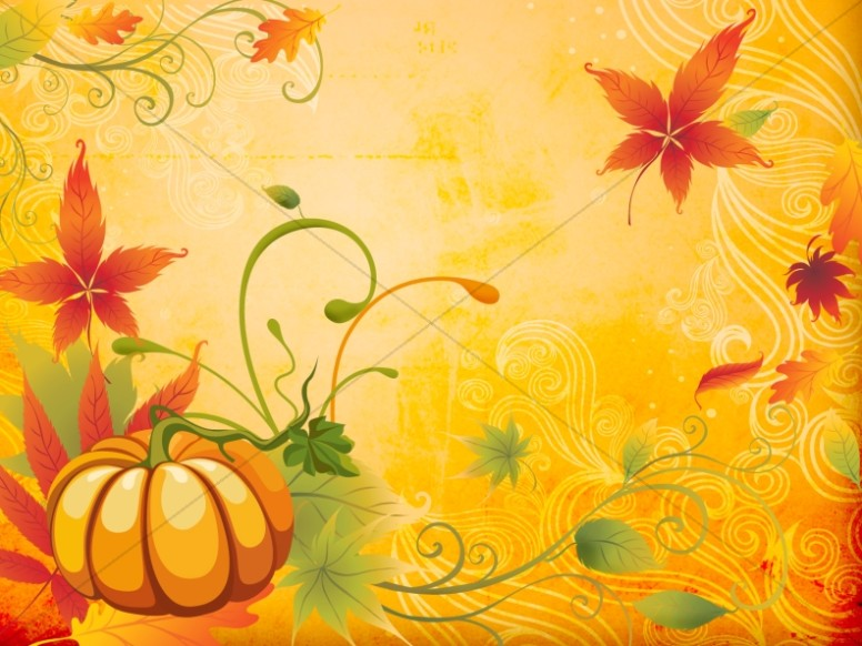 Happy Fall PowerPoint Template Fall Thanksgiving PowerPoints