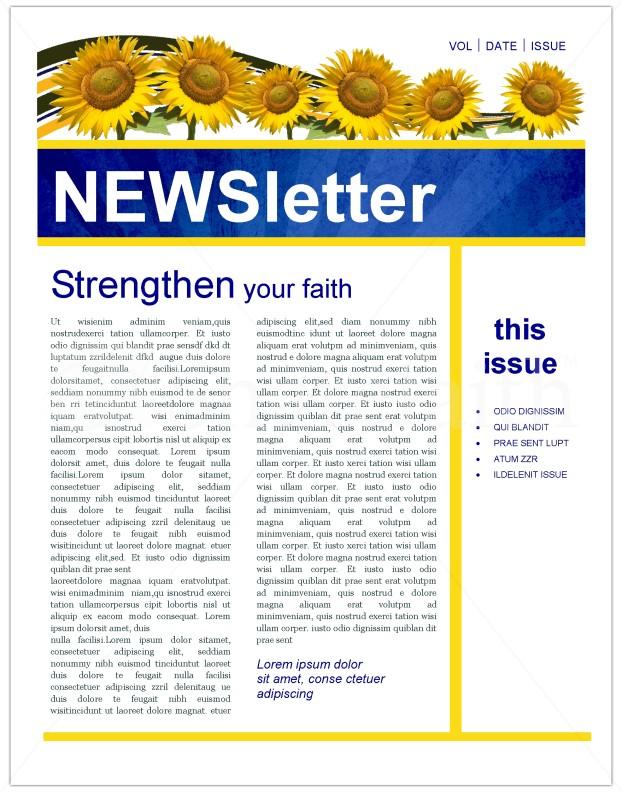 christian newsletter templates