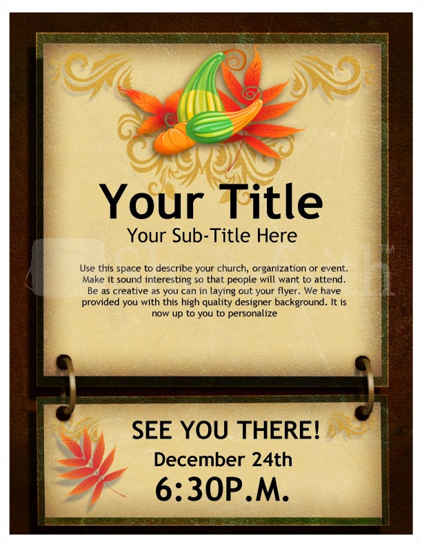 Give Thanks Flyer Design Template Flyer Templates
