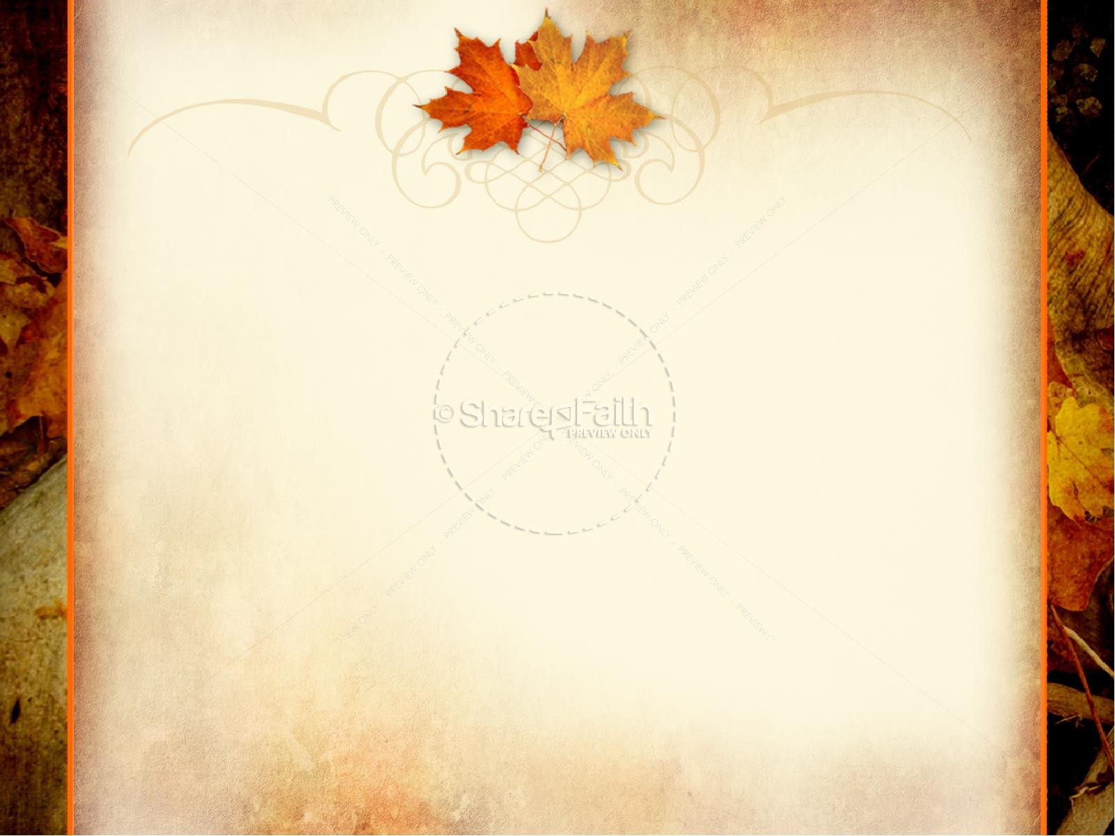 Autumn Falling Leaves Live Wallpaper Thanksgiving Powerpoint Template Fall Thanksgiving