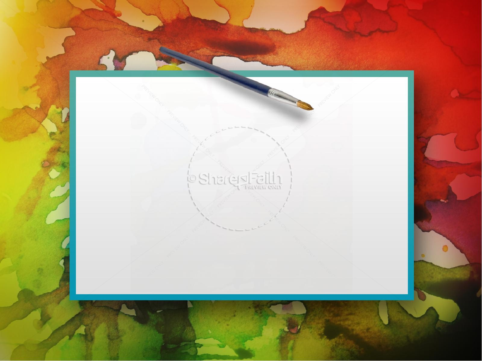 Fall Colors Mobile Wallpaper Colorful Powerpoint Sermon Template