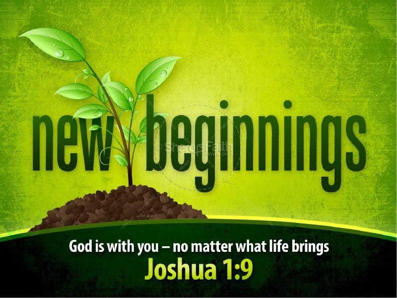 Creative New Year Beginnings Powerpoint Sermon New Years Resolutions ...