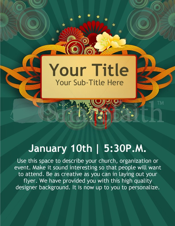 New Year Church Event Flyer Templates Template Flyer Templates