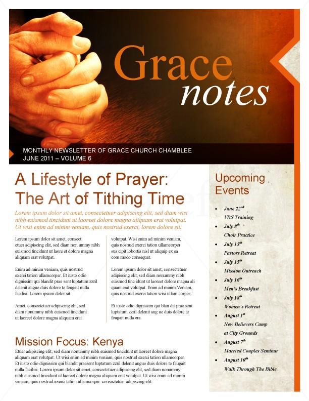 Prayer Church Newsletter Template Newsletter Templates - church newsletter
