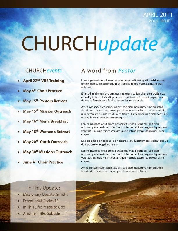 Pathway Church Newsletter Template Template Newsletter Templates - church newsletter