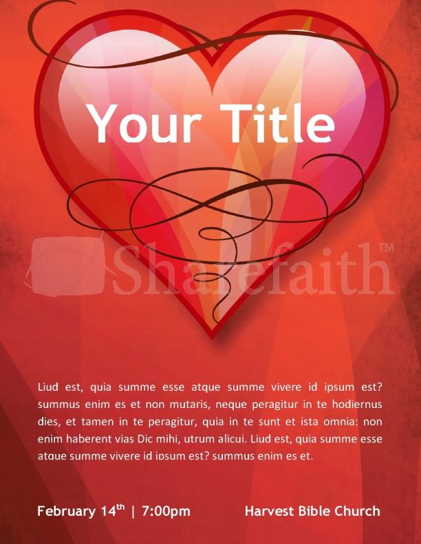 Love Church Flyer Template Template Flyer Templates