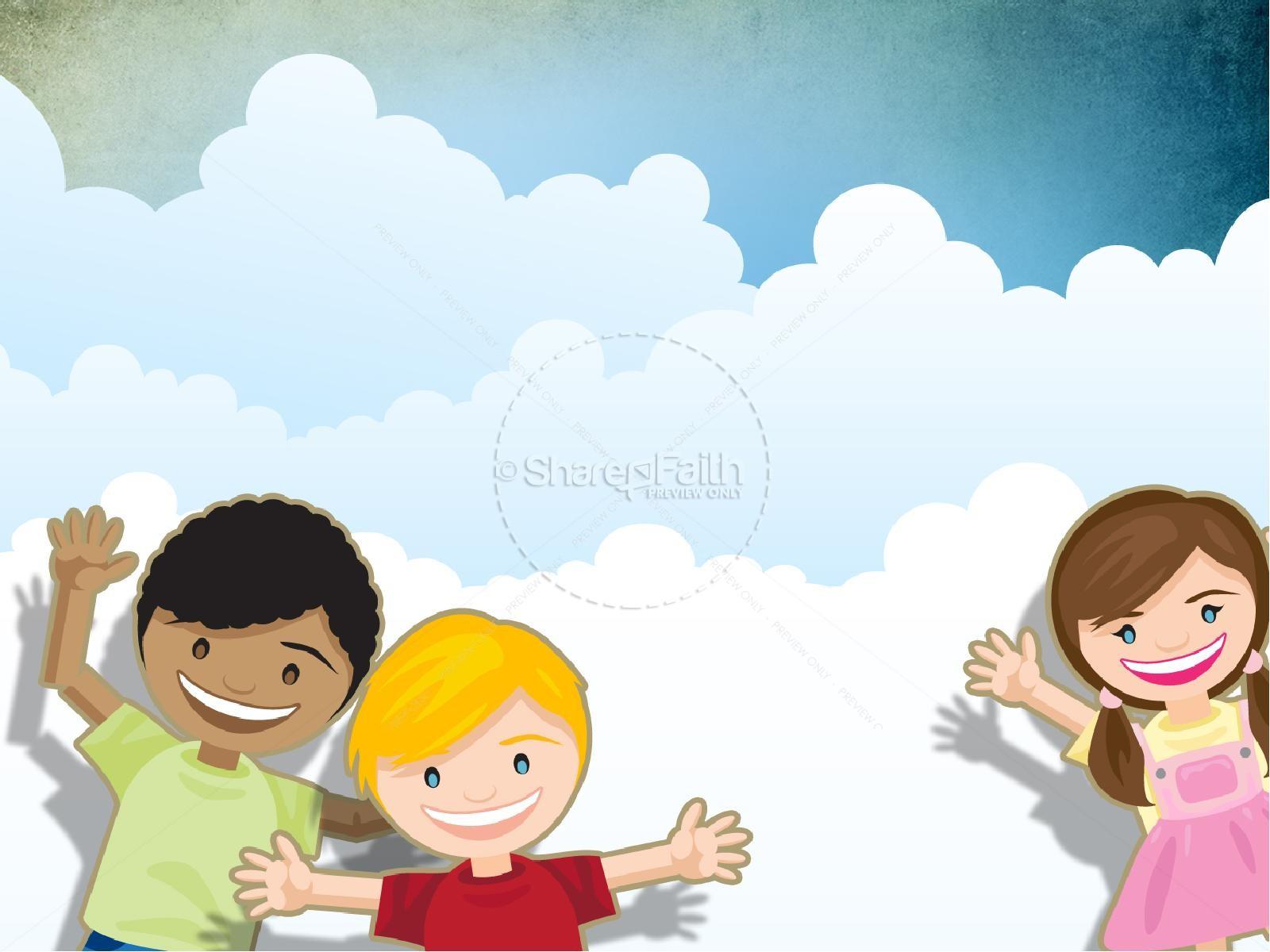 Cute Toddlers Playing Cartoon Wallpaper Sunday School Powerpoint Powerpoint Sermons