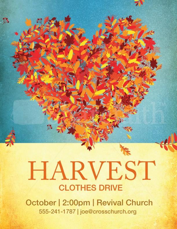 Harvest Clothes Drive Template Flyer Templates - clothing drive flyer template