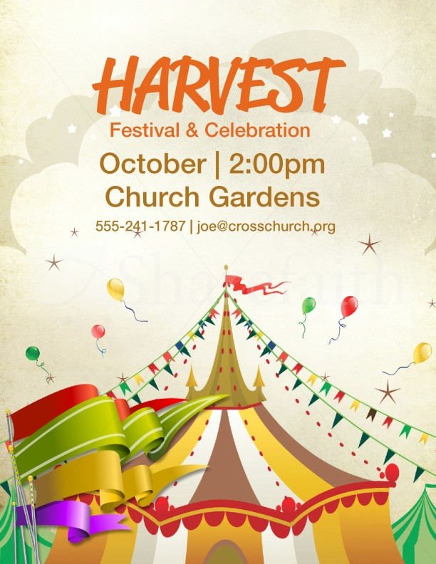 Harvest Festival Harvest Carnival Template Flyer Templates - fall festival flyer ideas