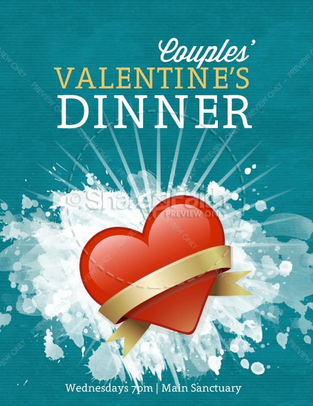 Valentine\u0027s Dinner Flyer Template Template Flyer Templates