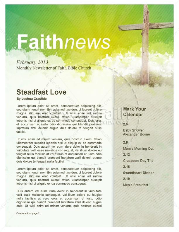 tri fold church bulletin - church newsletter