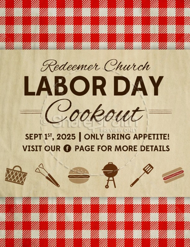 Labor Day Barbecue Flyer Template Flyer Templates