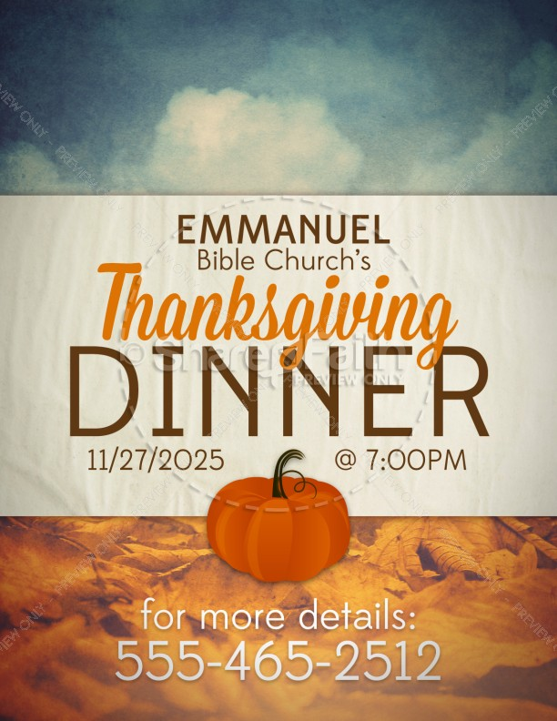Thanksgiving Dinner Religious Flyer Template Flyer Templates - Dinner Flyer
