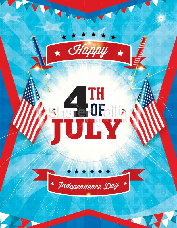 Independence Day 4th of July Religious Flyer Template Flyer Templates - 4th of july template