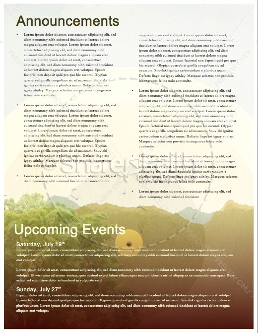 Faith of a Mustard Seed Religious Newsletter Template Newsletter - religious brochure