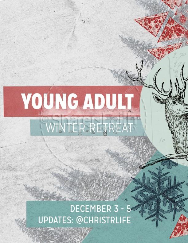 Winter Retreat Christian Flyer Template Flyer Templates