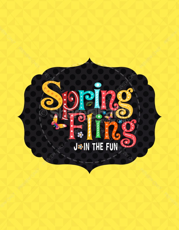 Spring Fling Ministry Flyer Template Flyer Templates