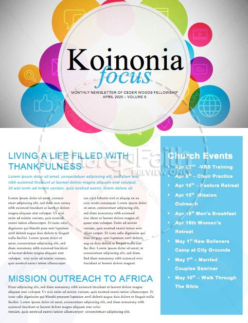 Get Connected Find Us Online Church Newsletter Template Newsletter