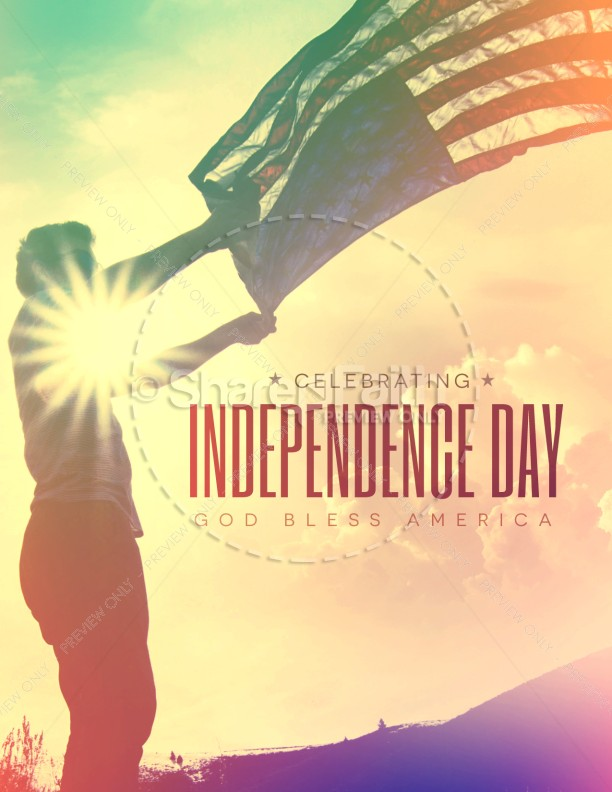Independence Day Flag Religious Flyer Template Flyer Templates