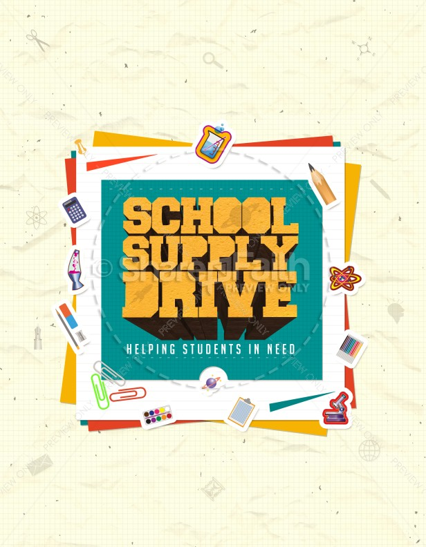 School Supply Drive Ministry Flyer Template Flyer Templates