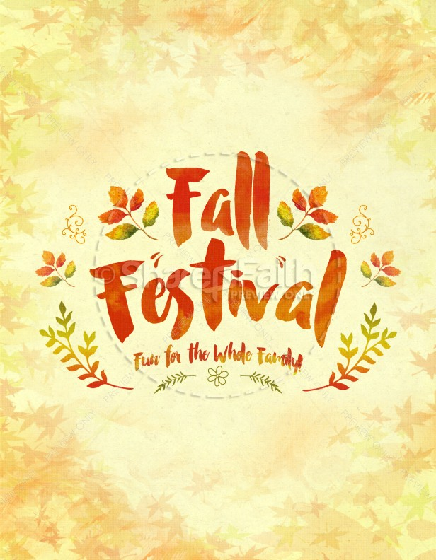 Fall Festival Family Fun Religious Flyer Template Flyer Templates