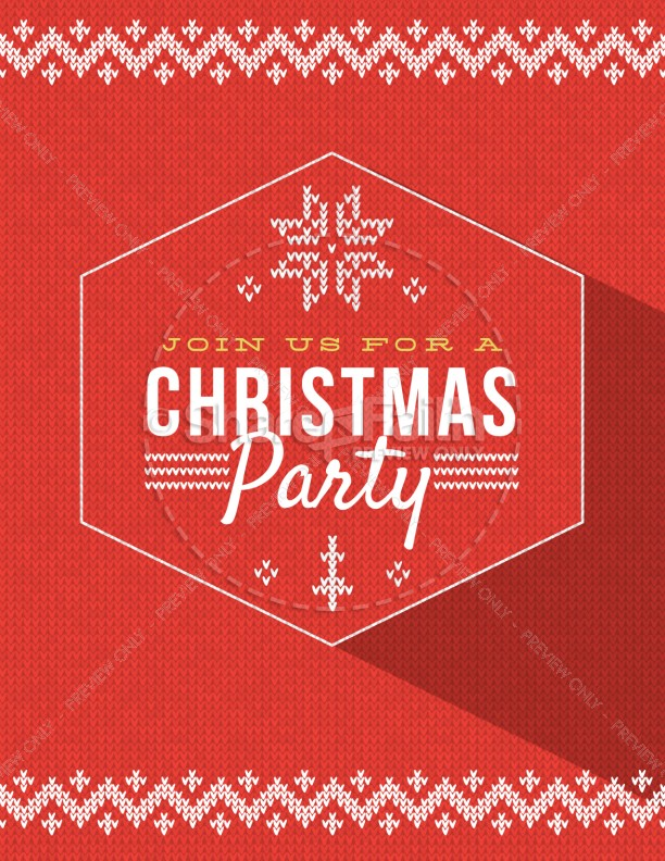 Christmas Party Announcement Christmas Flyer Template Flyer Templates