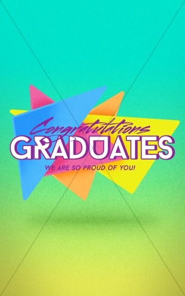 Congratulations Graduation Sunday Bulletin Secular Holiday