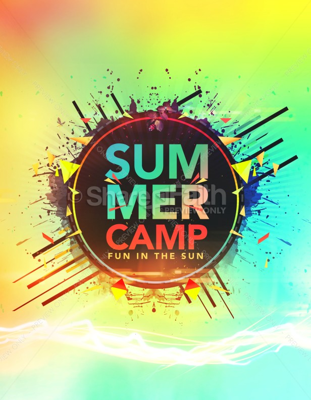 Summer Camp Fun in the Sun Church Flyer Template Flyer Templates - Summer Camp Flyer Template
