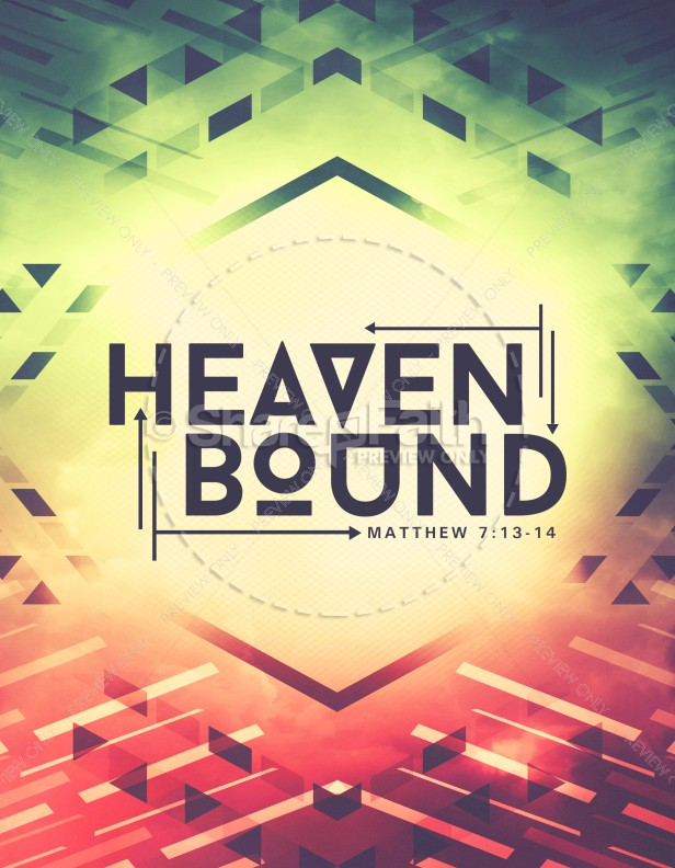 Heaven Bound Church Flyer Template Template Flyer Templates