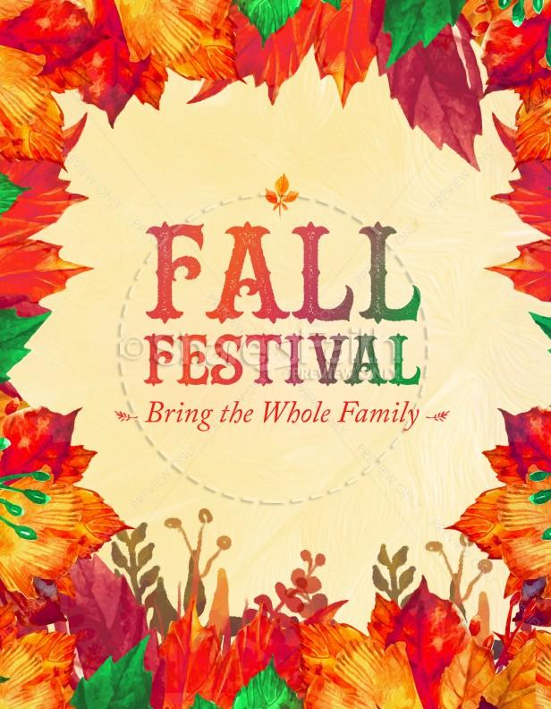 fall festival flyers templates free