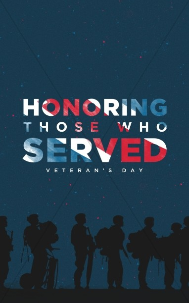 Veterans Day Honoring Those Who Served Announcements Motion Graphic