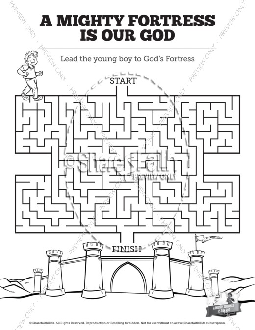 Bible Mazes - SharefaithKids Bible Activities for Kids