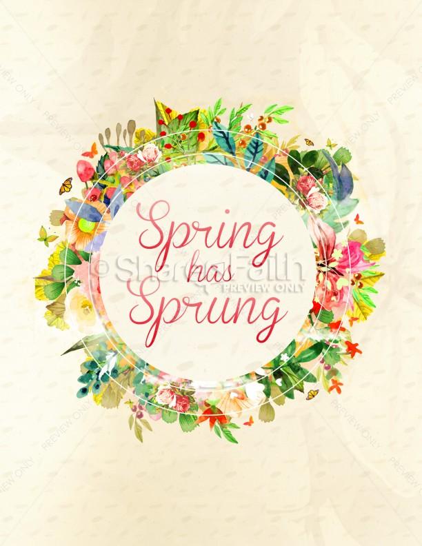 Spring Has Sprung Church Flyer Template Flyer Templates - spring flyer template
